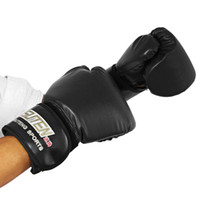 Boxing Gloves PU Leather Mitts Mitten Boxing Glove Fighting ...