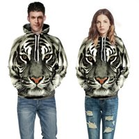 Impressão 3D Punk Casual Animal Animal Animais Moletom Lion Leopardo Hoodies Hoodies Pullover Homens Mulheres Casacos Tigre Head Winter Ngxwi