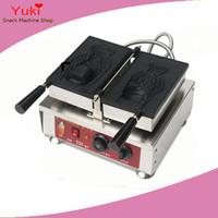 Electric Big рта Рыба Вафельница Тайяки Машина открытый рот Корейский рыб Вафля изготовить машину Мороженое Рыба Вафля