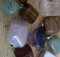 natural stone pendants wholesale lot #735. 2 mixed new cats e...