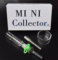 Mini Nectar Collector Kit Ensemble Nectar Collector avec 14mm / 19mm GR2 titane Ongles Mini Glass Pipe Rig Concentré Miel Dab Straw