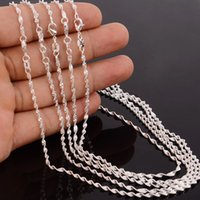 Wholesale- 10pcs lot Fashion Silver Necklace Chains, 2mm 925 ...