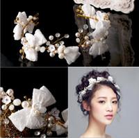 Nova Chegada 2018 headbands de casamento da noiva arcos de renda bead headpieces beading artesanal festa formal acessórios para o cabelo das mulheres