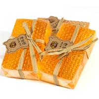 90 جرام 100٪ اليدوية العسل الصابون تبييض تقشير الجلوتاثيون أربوتين العسل كوجيك حمض الصابون شحن مجاني بالجملة