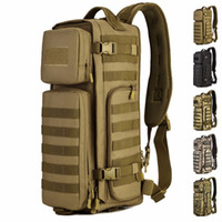 Men Chest Sling Back pack Borse uomo One Single Shoulder Man Zaino da viaggio grandi Zaini Molle Outdoor Zaino