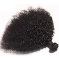 Brasileiro Virgem Humano Cabelo Afro Kinky Curly Curly Remy Cabelo Tece Duplo WeFts 100g / Bundle 1 bundle / lote pode ser tingido branqueado FedEx