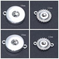 Mix 12mm ve 18mm Gerdanlık Düğmeleri Snaps Takı Alaşım Düğme Fit 12mm 18mm Yapış Kolye Kolye Yapış Basın Düğme Kolye