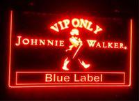 B137 VIP solo Johnnie Walker Neon Light Signo Decoración Dropshipping al por mayor 7 colores para elegir