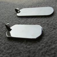 Wholesale空白のステンレス鋼の軍隊犬のタグミラー表面レーザー刻まれた男性のペンダント