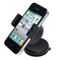 360 Graus Mini Windscreen Car Universal Mount Holder Suporte Cradle Para o telefone móvel 4 5 SAMRT PHONE GPS todos os Celular pacote de varejo