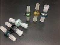 Adattatori di vetro colorati Convertitore Maschio femmina 14mm 18mm a 14mm 18mm Maschio femmina Adattatori di vetro per olio Bong di vetro