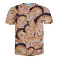 Wholesale- 2016 hot Fashion Nicolas cage Crazy funny print St...