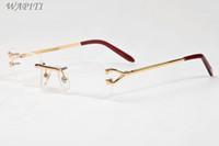 óculos de armação claras lentes de óculos de sol para chifre mulheres luxo búfalo óculos unissex óculos esportes mens com rimless óculos de ouro fr