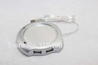 10 teile / los RA Neue 4 Port USB Hub Tee Kaffee Getränke Elektrische Tasse Becher Wärmer Heizkissen für PC Laptop Kostenloser Versand 0001
