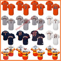 Men Women Youth Houston Astros Jersey Flexbase Carlos Correa...