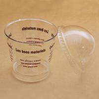 180 ml Kunststoff Eisbecher Klare Mousse Tasse Sägemehl Tasse mit Dome Deckel Einweg Dessert Kuchen Tassen Schüssel Partei Liefert ZA3259