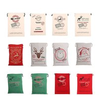 Christmas Gift Bags 2017 New Large Canvas Santa Sack 12 Colo...