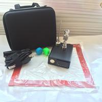 Quartz E Dab Nail unghie da unghie electtrico MM Femmina Maschio Quarzo Ti Nail PID Kit completo di controllo della temperatura scatola dabber 100 w strumenti Dabber