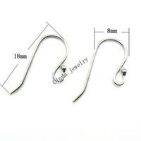 10 pares / lote 925 Ganchos de pendiente de plata esterlina Findir para el regalo de joyería de moda de DIY Craft 18mm W045
