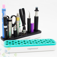 Neueste Multifunktionsständer Kunststoff + Silikon Material E Zigarettenspitze für Mods Zerstäuber Batterie Pinzette Viele Werkzeuge DHL geben frei
