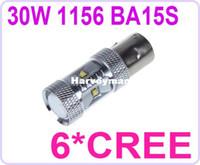 White 30W 1156 BA15S 6*CREE XBD R3 LED Car Tail Turn Backup Reverse Light Bulb Lamp