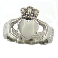 Fanssteel joyería de acero inoxidable Celticr ing infinito amor anillo corazón princesa corona claddagh anillo anillo regalo para hermanas 06w00