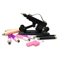 Pistolet de pompage féminin de masturbation de machine de sexe, avec 6 attachements de godemichés, machines automatiques de sexe pour l'oeuf de vibrateur de produits de sexe de femmes