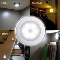 Battery- Powered Motion Sensor 6 LED Night Light Stick- anywhe...