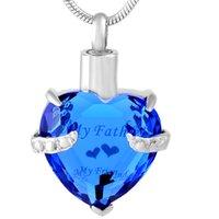 IJD9790 сердце кремации урна кулон ожерелье Кристалл пластины из нержавеющей стали Мемориал пепел держатель похоронное ожерелье