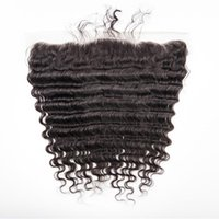 "Peruvian Lace Frontal Closure Human Hair 13x4"" Bleached..."