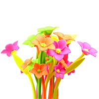Yaratıcı kırtasiye toptan bitki yumuşak çim çiçek öğrenciler için güzel kalem kalem ödülü