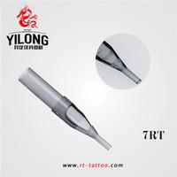 Punte di ugello del tatuaggio grigio monouso di YILONG 7RT 50PCS punte di plastica per il rifornimento della macchina del tatuaggio Trasporto libero