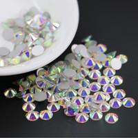 Super glitter Nail Art Strass Cristal AB ss3-ss30 Non Correctif FlatBack Strass Décoration De Mariage Strass Perles