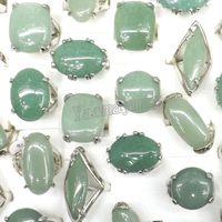 50 sztuk / partia Duży Natural Light Green Jade Aventurine Pierścienie półszlachetne Kamienia Rings Cena fabryczna Darmowa Wysyłka