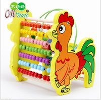 Colorful Cock Around Bead Wooden Abacus Child Educationnal C...