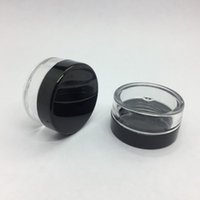 5 gram en plastique cosmétique pot clair bouteille noir Cap crème vide Pot échantillon Pot 5 ml Mini Bouteille En Plastique Nail Art Glitter poudre Conteneur cas
