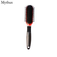 9 Ligne dents rangée peigne antistatique Anti-chaleur Démêlant Brosse À Cheveux Professionnel barbiers Brosse De Coiffure pour toute la longueur de cheveux