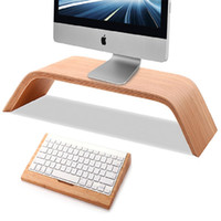 2016 جديد الجوز الخشب الحقيقي حامل حامل سطح المكتب بيرش ل imac samdi حامل الأصلي للكمبيوتر مراقب