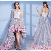 SSYFashion 2017 Evening Dress Bride Sweet flower Short Front...