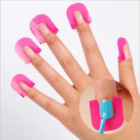 DHL gratuit 26Pcs / set 10 taille ongle forme ensemble manucure outil protecteur UV vernis à ongles gel modèle déversement preuve Creative Nail Art 5 Transactions
