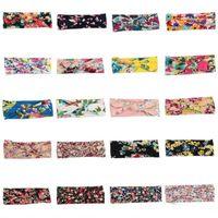 20 colori! Cotone elasticizzato neonate fasce archi bambini Hairband Fiore Turbante nodo Headwear Newborn Bunny Ear Accessori per capelli