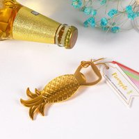 Golden Color Pineapple Beer Bottle Opener Beach Fruit Weddin...