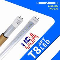 재고 US + 4피트 주도 튜브 조명 18W 20W 22W T8 LED 형광 튜브 전구 AC 110-240V 주도 튜브 조명 조명