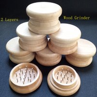Wood Tobacco Grinder wooden spice herb handle grinder crushe...