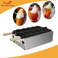 5 ШТ. Открытый рот Корейский рыбный вафельница Электрическая тайяки машина Корейский Тайяки Pan Cream Cream Fish Fifle Waffle Baker