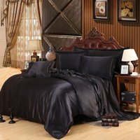 Wholesale- Custom- made Black Luxury Bedding Sets Solid Silk ...