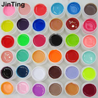 Wholesale- 36 Pure Color Nail Art UV Gel Solid Extension Mani...