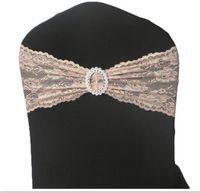 Оптовая мода Бесплатная доставка цвет лотоса кружева стул полосы для свадебные украшения банкетный стул охватывает украшения