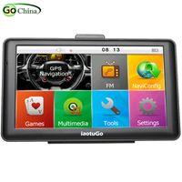 """Originale iaotuGo 7 """"Navigatore capacitivo per camion GPS per auto 256M 8G Bluetooth AVIN FM HD 800 * 480 Mappe aggiornate e aggiornate gratuitamente"""