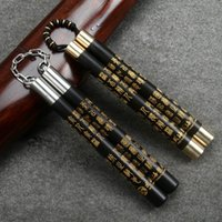 New Ebony Nunchakus Steel Chain Stainless Steel Nunchakus Ac...